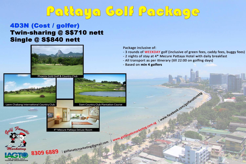 Golf Fanatic Marketing 4d3n Pattaya Golf Package 2016